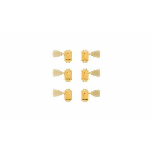 Jg de Tarraxa P Gt 3+3 C Botoes Perolados Gibson Pmmh 020 - Dourada