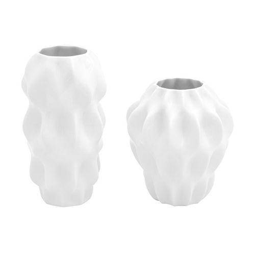 Jg 2 Miniaturas Plissan P G Branco - Holaria Cerâmica