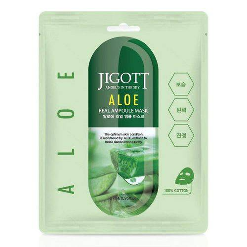 Jigott Aloe Real Ampoule Mask