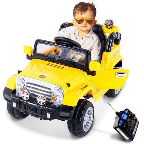 Jipe Elétrico Trilha Amarelo com Controle Remoto 12V 927600