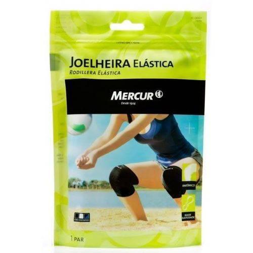 Joelheira Elástica Mercur G Preta 1 Par Ref:bc0633-cp