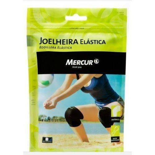 Joelheira Elástica Mercur M Preta 1 Par Cod: Bc0633-bp