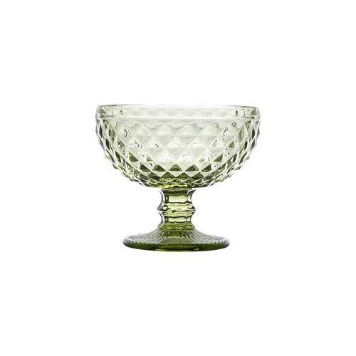 Jogo 06 Taças de Sobremesa Bico de Abacaxi Verde - Lyor