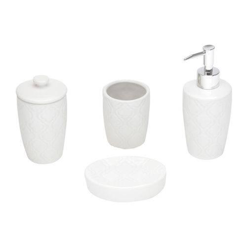 Jogo 4 Peças para Banheiro de Cerâmica Rio Branca Lyor - L3862