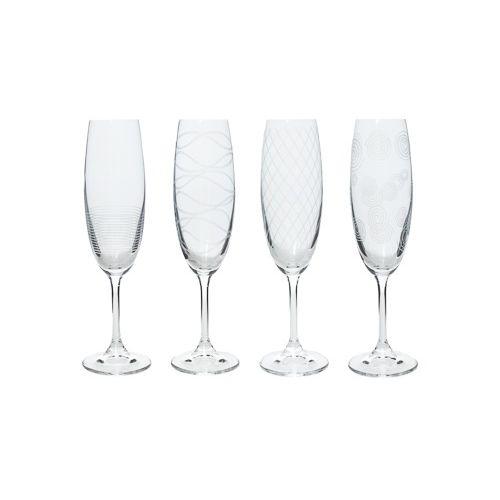 Jogo 4 Taças de Champagne Leona