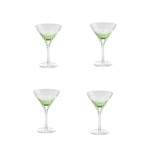 Jogo 4 Taças para Martini Verde 210ml