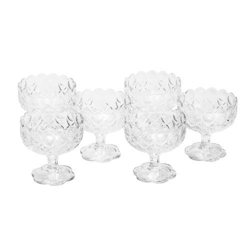Jogo 6 Bowls em Cristal Angelica 10,5x10,5cm