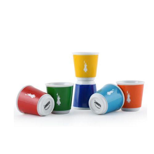 Jogo 6 Copos para Expresso em Cerâmica Pop 80ml - Bialetti