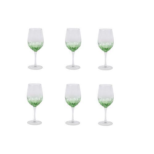 Jogo 6 Taças Craqueladas para Vinho Verde 360ml