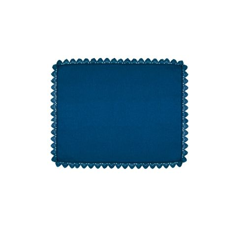 Jogo Americano Azul Marinho Julie 46x37cm - Lola Home