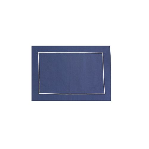 Jogo Americano Azul Marinho Tricoline