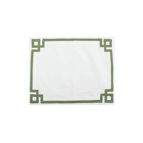 Jogo Americano Branco com Quadrados 40x51cm