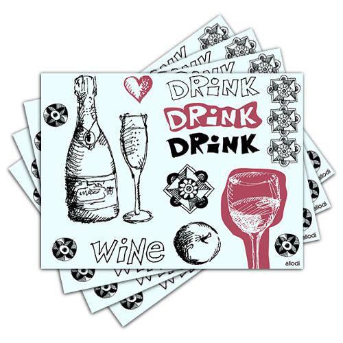 Jogo Americano - Vinho com 4 Peças - 180jo
