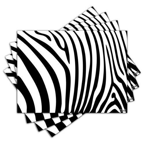 Jogo Americano - Zebra com 4 Peças - 058jo