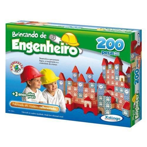 Jogo Brincando de Engenheiro 200 Peças 5306.5 - Xalingo