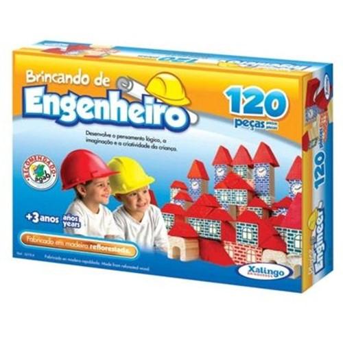 Jogo Brincando de Engenheiro 120 Peças Xalingo DIVERSOS