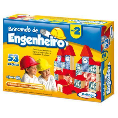 Jogo Brincando de Engenheiro Ii 53 Peças 5276.5 - Xalingo