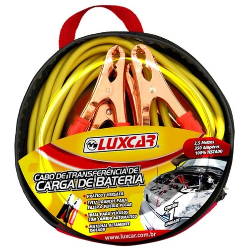 Jogo Cabos Transferencia Energia Luxcar 350 Amp