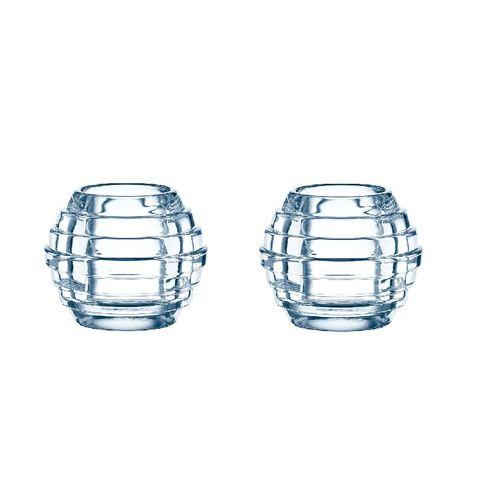 Jogo 2 Castiçais Glowball 9,3x7,7cm - Nachtmann