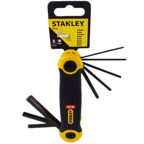 Jogo Chave Hexagonal Canivete 1,5 X 8 Mm - 08 Peças - 69-264 - Stanley