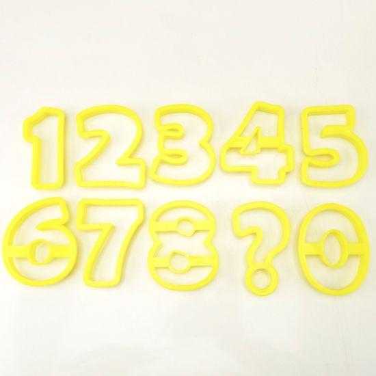 Jogo Cortador de Pasta Americana e Biscuit Blue Star Números8,5cm com 10 Peças