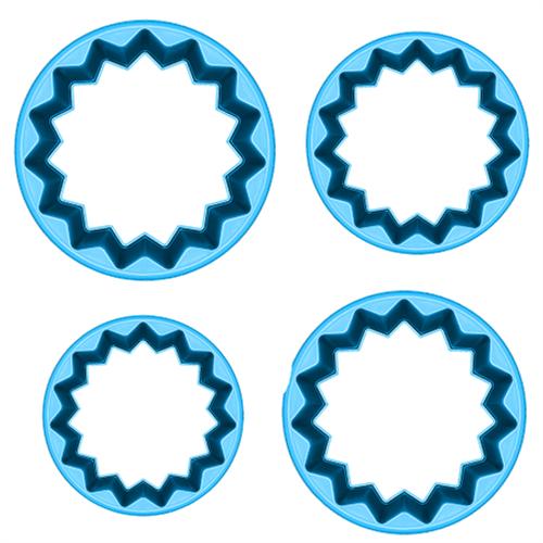 Jogo Cortadores de Pasta Americana e Biscuit Blue Star Castelinho PP com 4 Peças