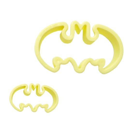 Jogo Cortadores de Pasta Americana e Biscuit Blue Star Morcego com 2 Peças