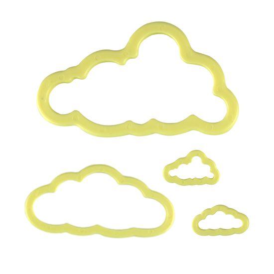 Jogo Cortadores de Pasta Americana e Biscuit Blue Star Nuvens com 4 Peças