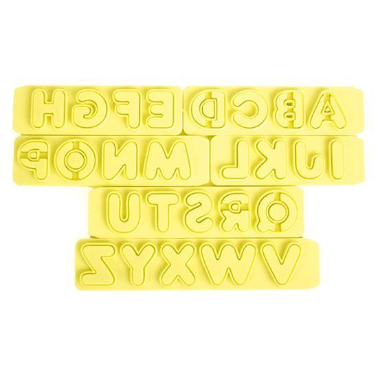 Jogo Cortadores de Pasta Americana e Biscuit Blue Star Réguas com Extrator Letras 6 Peças