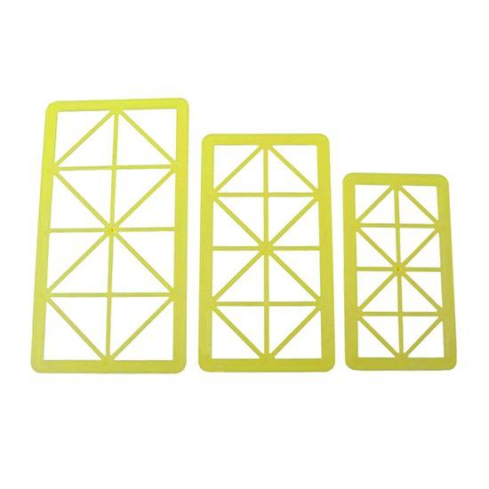 Jogo Cortadores de Pasta Americana e Biscuit Blue Star Triângulo Retângulo com 3 Peças