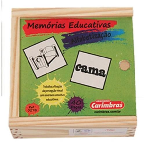 Jogo da Memória em Madeira - Alfabetização - CARIMBRAS