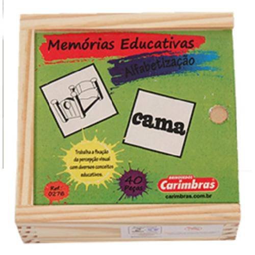 Jogo da Memória em Madeira - Alfabetização