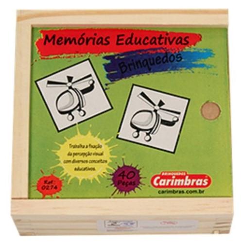Jogo da Memória em Madeira - Brinquedos - CARIMBRAS