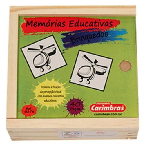 Jogo da Memória em Madeira - Brinquedos