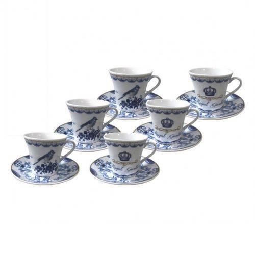 Jogo de 12 Peças P/ Café Coffe Time Royal em Porcelana 90ml 23358 - Dynasty