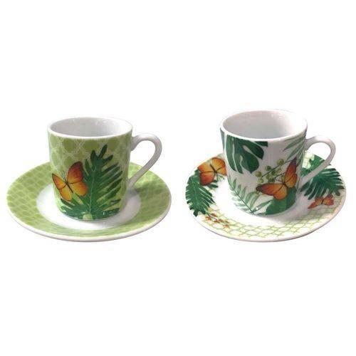 Jogo de 12 Peças para Café Coffe Time em Porcelana 80ml - 23666