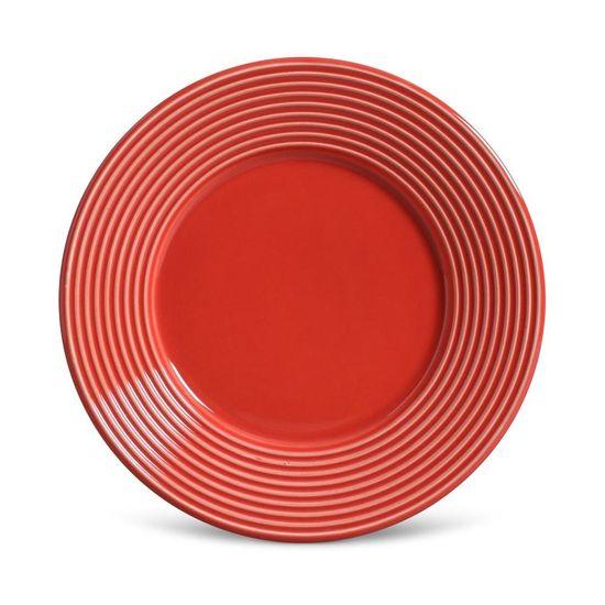 Jogo de 6 Pratos de Sobremesa Argos Vermelho