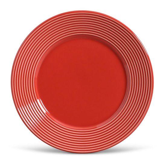 Jogo de 6 Pratos Raso Argos Vermelho
