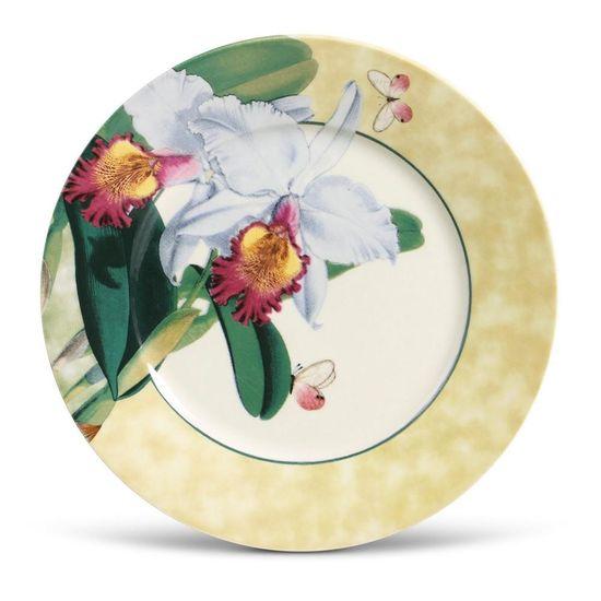 Jogo de 6 Pratos Raso Mônaco Orchids