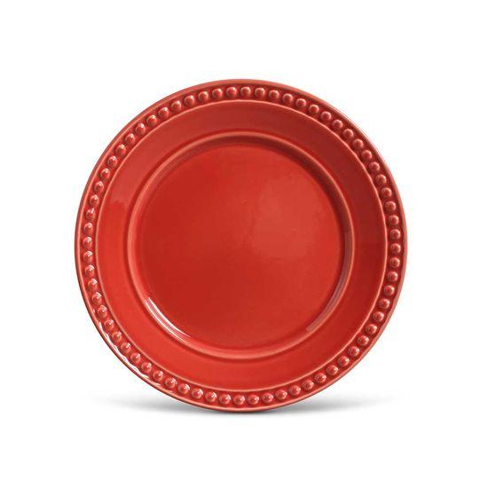 Jogo de 6 Pratos Rasos Atenas Vermelho