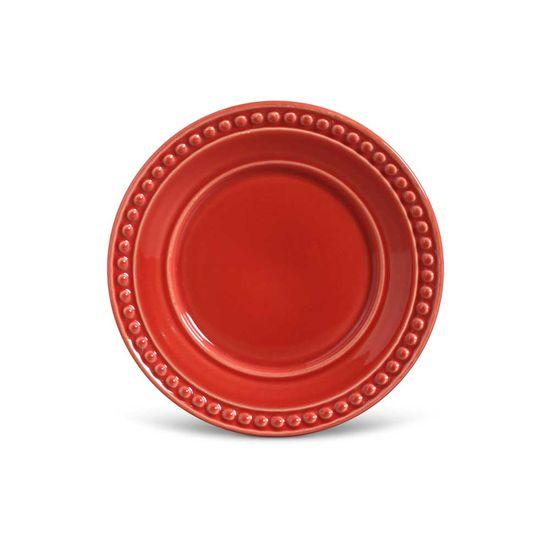 Jogo de 6 Pratos Sobremesa Atenas Vermelho
