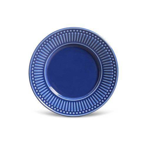 Jogo de 6 Pratos Sobremesa Roma Azul Navy