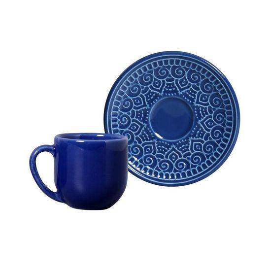 Jogo de 6 Xícaras de Café com Pires Agra Azul Navy