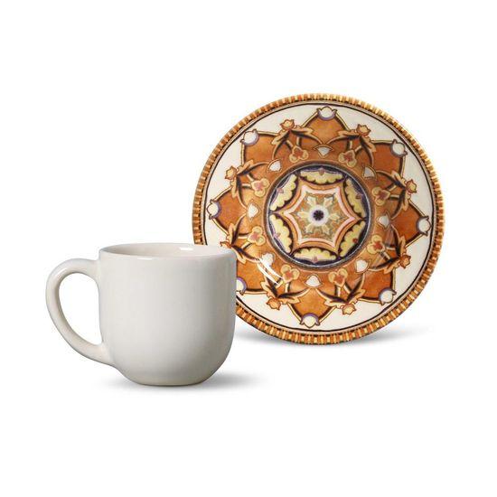 Jogo de 6 Xícaras de Café com Pires Mônaco Arabian