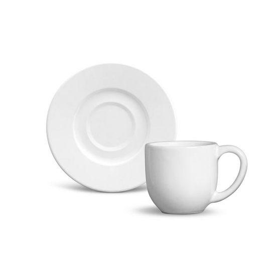Jogo de 6 Xícaras de Café com Pires Mônaco Branco