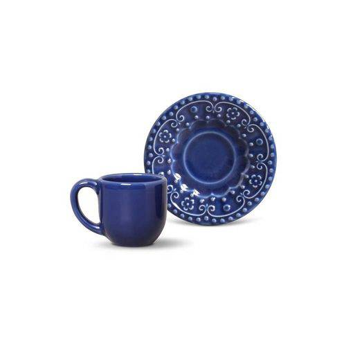 Jogo de 6 Xícaras de Café Esparta Azul Navy