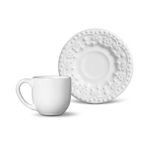Jogo de 6 Xícaras de Café Esparta Branco