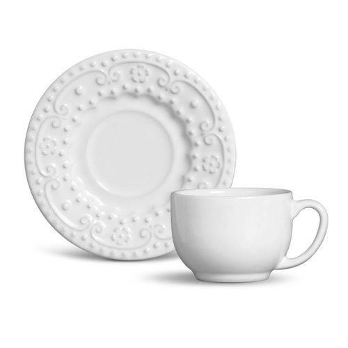 Jogo de 6 Xícaras de Chá Esparta Branco