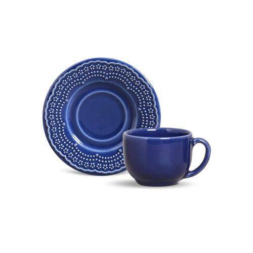Jogo de 6 Xícaras de Chá Madeleine Azul Navy