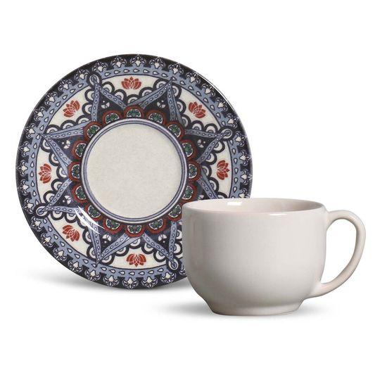 Jogo de 6 Xícaras de Chá Porto Brasil Mônaco Constantinopla